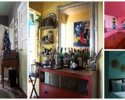 Colorful Artistic Gypsy Hideaway: 5 bedrooms, 2 kitchens, 3 bathrooms, dining room, living room, large attic, Los Angeles, CA