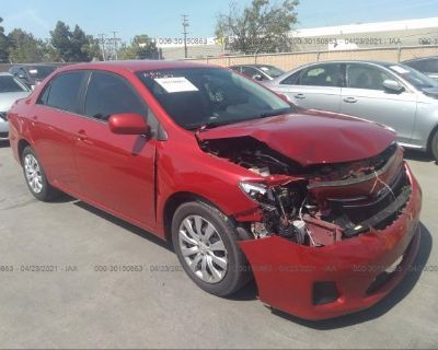 Salvage Red 2013 Toyota Corolla