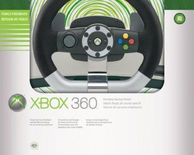 X Box 360 Wireless Racing wheel w/ pedals