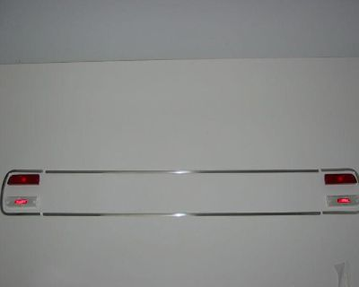 """64 Chevelle Rear Panel Upper/lower Moldings With Lens And """"c"""" Moldings"""