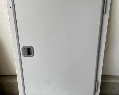 VW Westfalia Gray Refrigerator Door + Frame