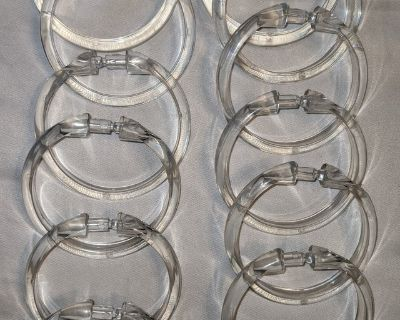 12 Shower Curtain rings