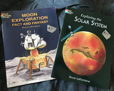 *Homeschool* Space-Themed Coloring Books