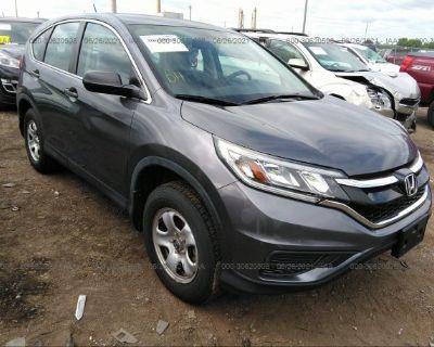 Salvage Gray 2015 Honda Cr-v