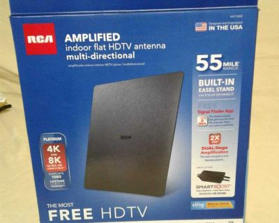 Amplified indoor flat HDTV antenna. Porch pick up in Angleton.