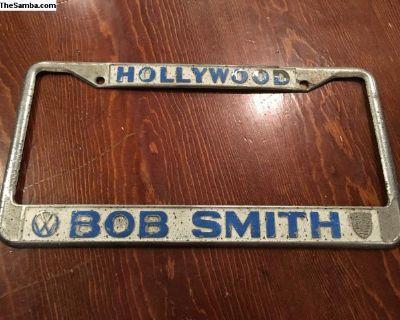 Hollywood Bob Smith license plate frame