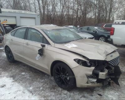 Salvage Beige 2019 Ford Fusion