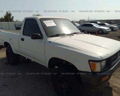 Salvage White 1993 Toyota Pickup