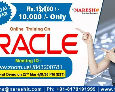 Oracle Online Training in the USA with Special Offer - NareshIT