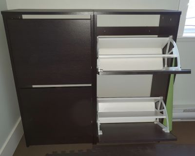 Two Ikea Bissa Cabinets