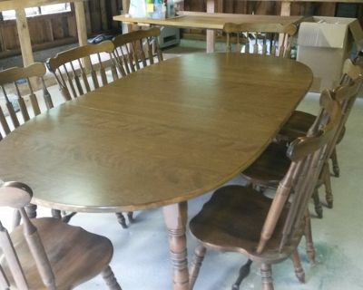 Dining Table seats 8 and 8 Chairs