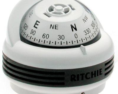 Ritchie Tr-33w Trek Compass - Surface Mount - White
