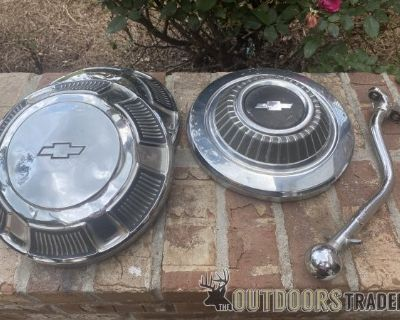FS OLD Chevrolet shifter and hubcaps