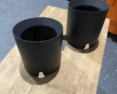 So Cal trade - stock satin Black exhaust tips