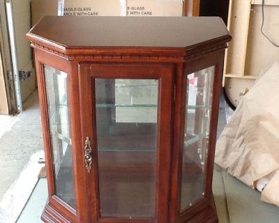 Cherry Wood/Glass Curio Cabinet