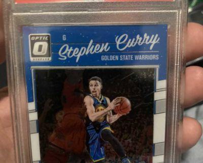 2016 Panini donruss optic STEPHEN CURRY PSA 9