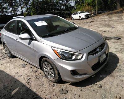 Salvage Silver 2016 Hyundai Accent