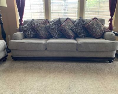 Gray Sofa Sleeper, Loveseat & Chair