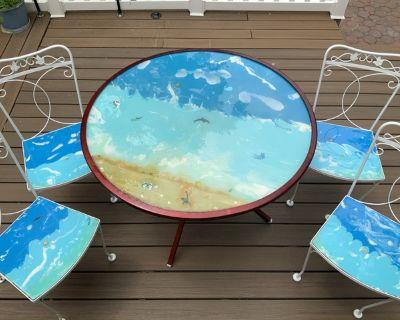 Unique outdoor patio set