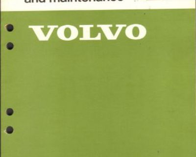 Volvo Service Manual Automatic Transmission 1975 Bw55, Aw55, Aw70, Aw71 240 260