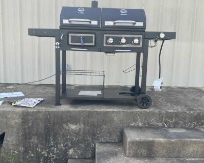 Revoace dual charcoal gas grill