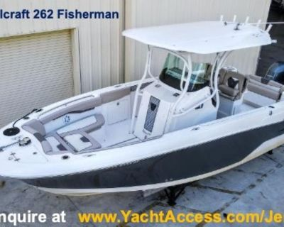 2018, 26' WELLLCRAFT 262 FISHERMAN Center Console For Sale