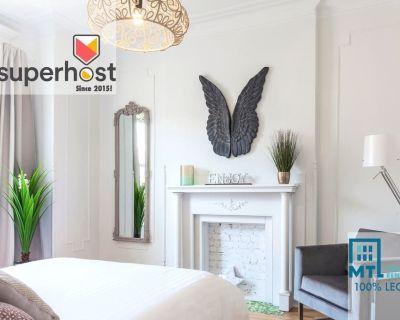 Chic Laurier, Plateau Mile-End, 3 bedrooms, A/C, private terrasse! - Mile End