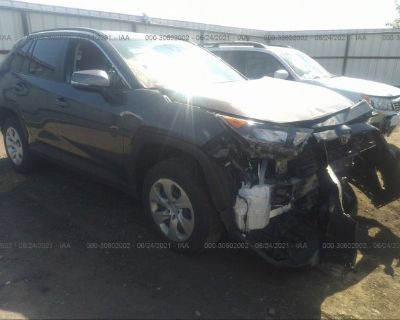 Salvage Gray 2019 Toyota Rav4