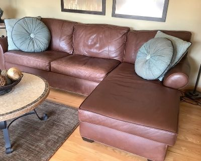 Arhaus Leather Sectional