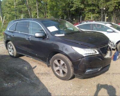 Salvage Black 2014 Acura Mdx