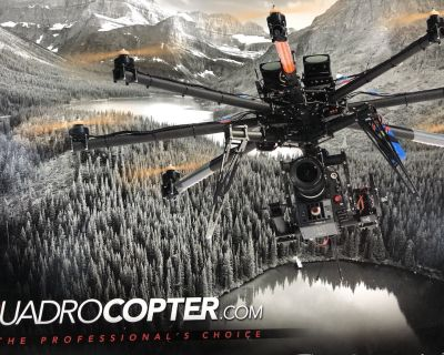 Quadrocopter drone with 3-axis Cinestar gimbal