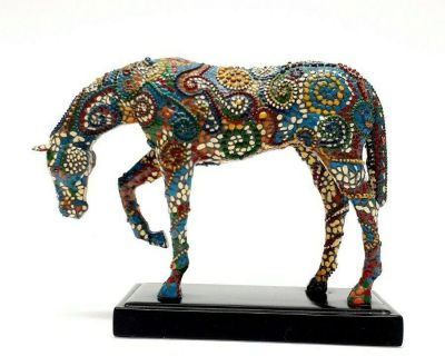 """NEW in Box Rare Horse Fever Mosaic """"JOURNEY"""" Commissioned by Marion Cultural Alliance Collectible Figure Figurine Statue"""