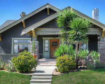 Craftsman House, Central, Jefferson Park, Classic single story, restored, bright, light color scheme, treed backyard, los angeles, CA