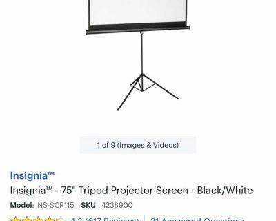Insignia 75 tripod projector screen (NI
