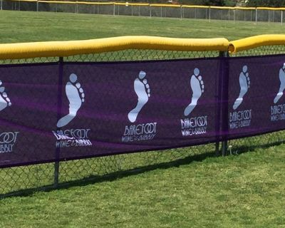 100% Customizable Fence Wraps for Football Pitch