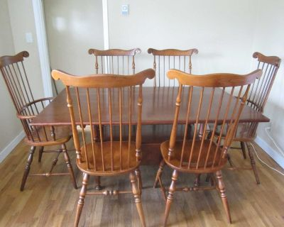 Solid Cherry Wood Dining Table & Chairs