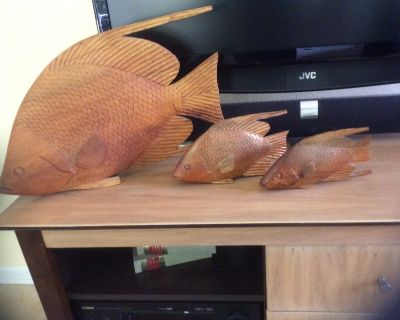 Decorative Wood Carved Fish