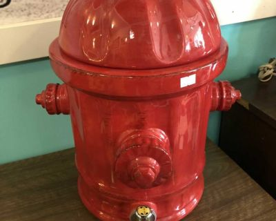 Large fire hydrant drink dispenser