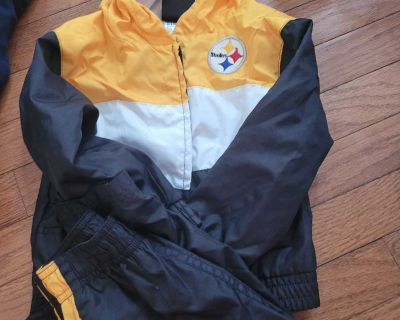 3t steelers pants and jacket
