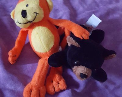"""Monkey and Bear 5"""" Stuffed Plush"""