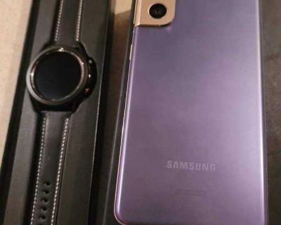 Galaxy Samsung s21 5g and watch 3