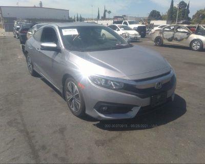 Salvage Silver 2016 Honda Civic Coupe