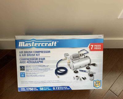 Mastercraft Air Brush Compressor and Kit