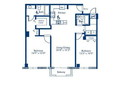 Miami Brickell - 2 Beds 2 Baths Apartment