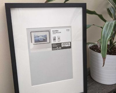 """Unused! 12"""" x 16"""" / 8"""" x 10"""" Black Wood Picture Frame for pick up in Cooper's Crossing Airdrie"""