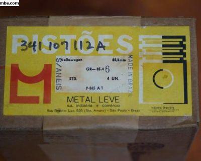 NOS Piston Set of 4 - 85.5/STD Metal Leve Brazil