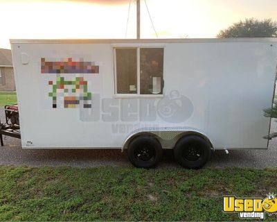 Lightly Used 2021 7' x 16' Kitchen Food Catering Concession Trailer