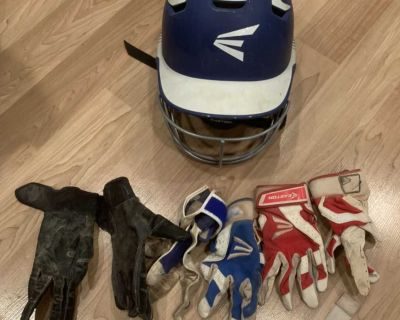 Youth helmet and gloves