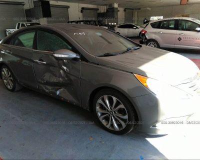 Salvage Gray 2014 Hyundai Sonata