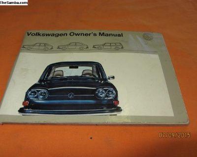 1971 volkswagen 411 owner's manual